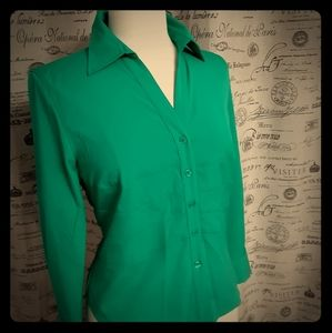 Green Style & Co Stretch Shirt 8P